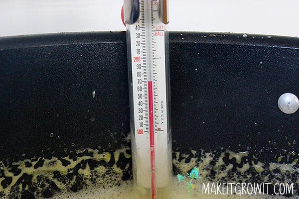 Custard temperature at 170F.