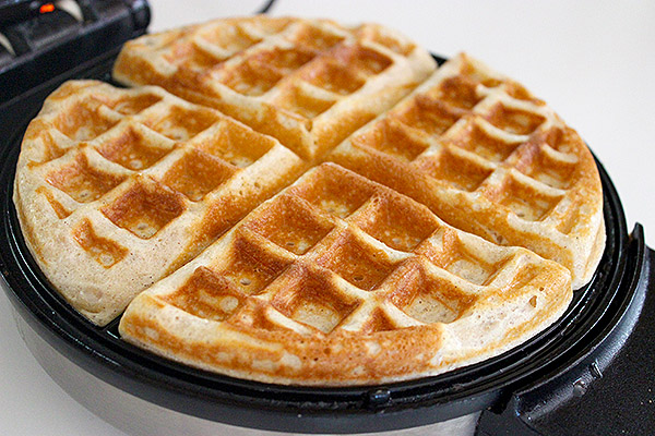 Cooked waffle.