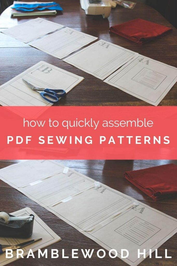 Tired of spending forever cutting and taping pdf sewing patterns? Learn the corner-cutting method to make quick work of them!