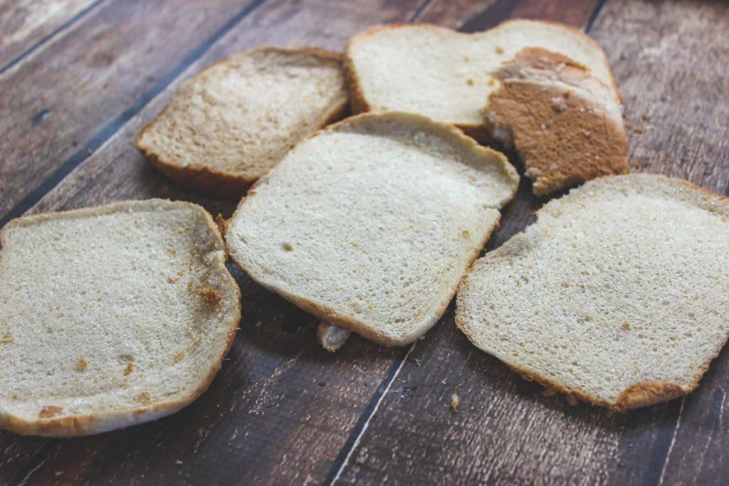 Frozen bread heels for making into breadcrumbs.